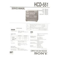 Visonik Wiring Diagram by Hcd 551 Sony Service Manual Highqualitymanuals