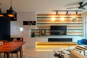 Cozy apartment in singapore with stylish elements for Interior design ideas for old apartments