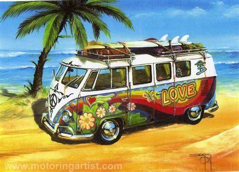 volkswagen van hippie blue hippy love vw splitscreen cer van hippy vans