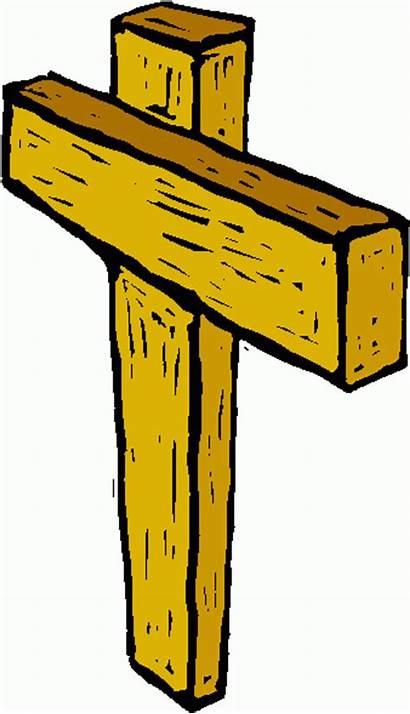 Clipart Cross Rugged Away Wooden Crosses Hill