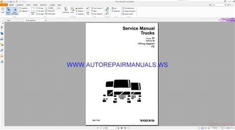Volvo Trucks Wiring Diagrams Service Manual