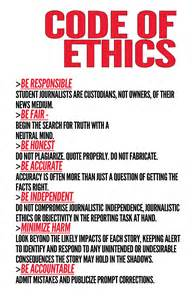 Code of Conduct Ethics Example