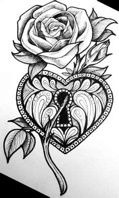 Cool Drawings Of Hearts | Heart and Rose by TheLob on deviantART | Daring Drawings | Hearts
