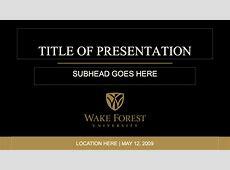 Identity Standards University PowerPoint® Templates