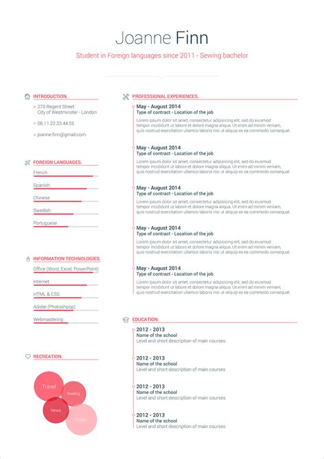 simple cv format template  psd word good resume
