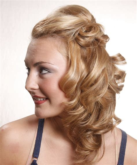 long curly golden blonde   hairstyle