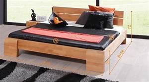 Lit Bois Massif Design : lit en bois massif design tokyo haut naturel huil chambre coucher discount ~ Teatrodelosmanantiales.com Idées de Décoration