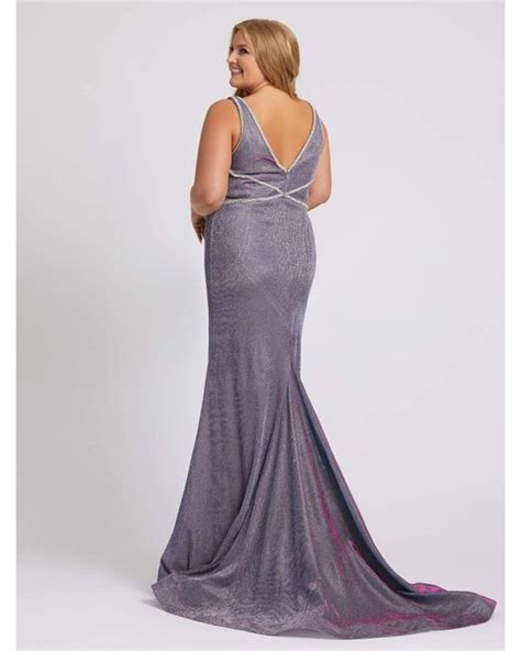 Elegant pageant gowns, long designer formal dresses, and special occasion mac duggal dresses. Mac Duggal Synthetic V-neck Sparkle Trumpet Gown-lavender ...