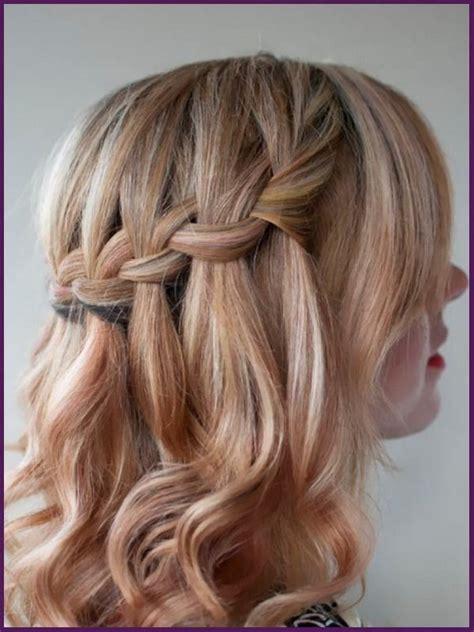 waterfall braid cute hairstyles for medium length hair