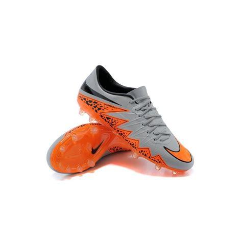 chaussures  nike hypervenom phantom ii fg neuf gris orange