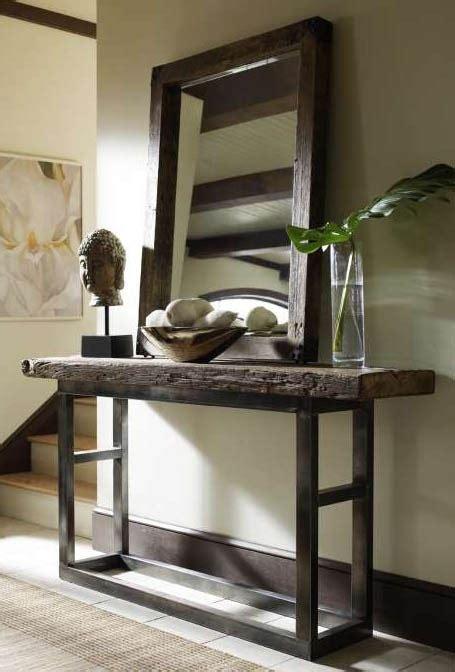 31390 foyer furniture ideas original 68 quot reclaimed distressed wood iron legs console