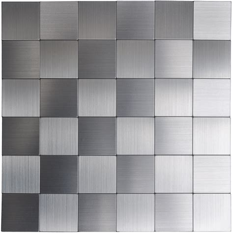 Metal Adhesive Backsplash Tiles by Self Adhesive Metal Tiles 10 Pcs Stainless Peel N Stick