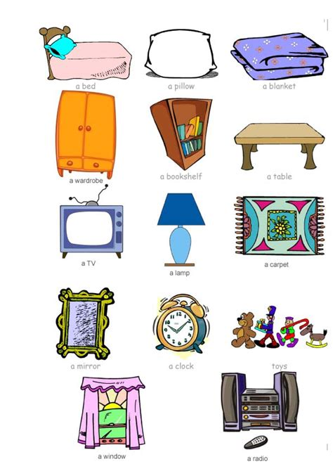 Bedroom Items by At Ntra Sra De La Antigua School Bedroom Objects