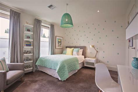 Fresh Mint And Grey Modern Big Girl's Bedroom