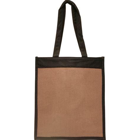 jute color jute color panel tote bags custom printed for promotional