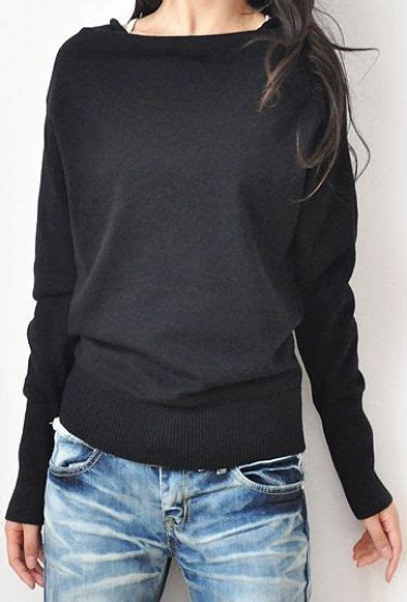 Ladies Black Boat Neck Sweater by 17 Best Ideas About Long Sleeve Sweater On Pinterest