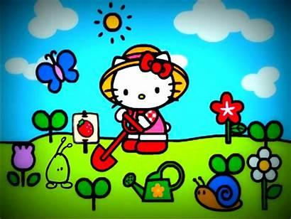 Kitty Hello Christmas Spring Wallpapers Desktop Summer