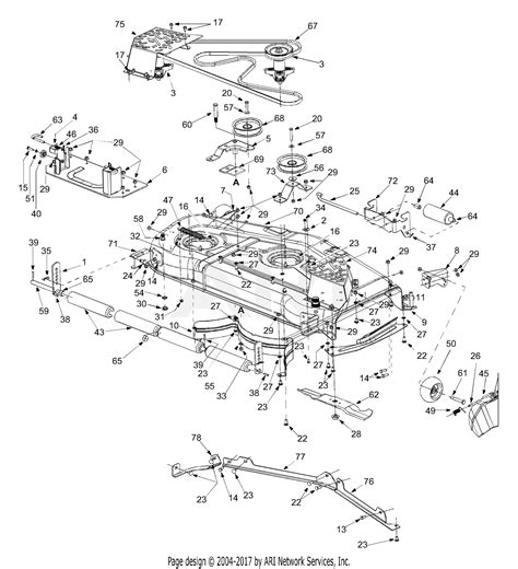 Deck Part Diagram by Mtd 14ar808k731 2004 Parts Diagram For Deck Assembly 54 Inch