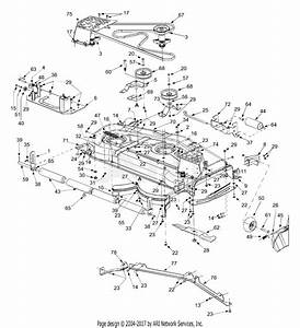 Mtd 14ar808k731  2004  Parts Diagram For Deck Assembly 54