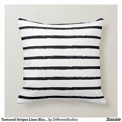 Throw Pillow Textured Stripes Lines Deckled Zazzle