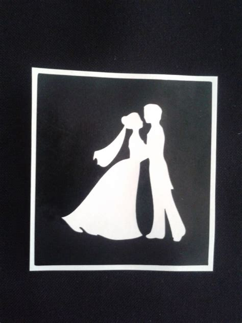 wedding couple holding hands stencils  etching  glass