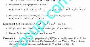 Exercices Alg U00e8bre 1  Polynomes Et Fractions Rationnelles Smpc Fs Oujda