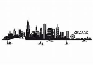 Chicago wall decal famous skyline vinyl decor for Good look chicago skyline wall decal