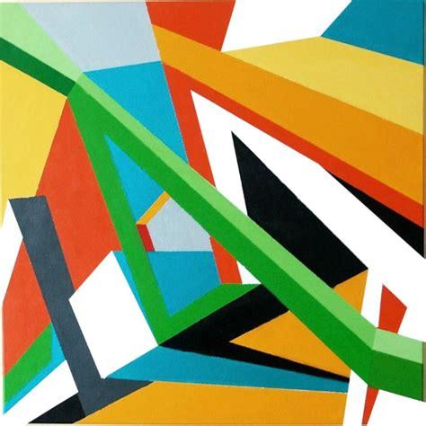 modern metal wall saatchi 3d geometric abstraction painting by marek uhlir