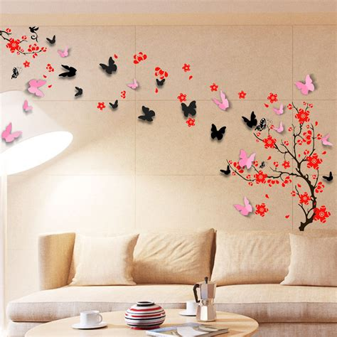 stickers muraux chambre b wall sticker mural decal paper decoration blossom