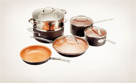 comparing gotham steel  red copper pans cookware reviews