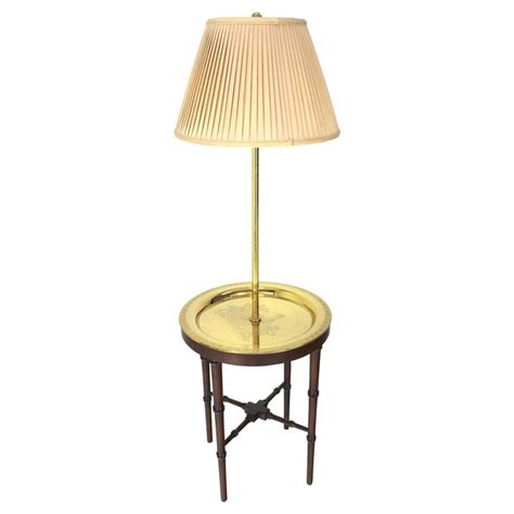 floor l with tray table four legs faux bamboo brass tray table floor l at 1stdibs