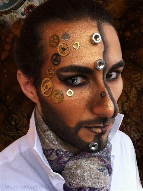 steampunk hero makeup tutorial   create  face painting beauty  cut