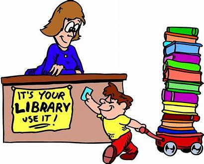 Library Cartoon Clipart Cliparts Books Animated Librarian