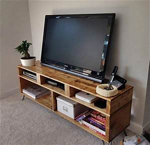 Console En Palette : diy pallet tv stand and console pallet furniture diy ~ Melissatoandfro.com Idées de Décoration