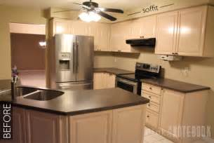 kitchen soffit ideas diy how to disguise a kitchen soffit pink notebook
