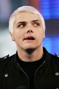 Gerard way with white hair for Welcome To The Black Parade ...