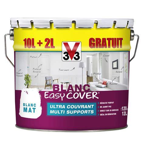 peinture pour fibre de verre leroy merlin peinture blanche mur plafond et boiserie easy cover v33 mat 12 l leroy merlin