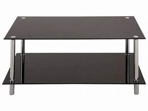 Conforama Table Basse : table basse rectangulaire en verre happy tous les produits tables prixing ~ Teatrodelosmanantiales.com Idées de Décoration