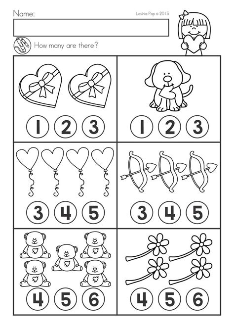 valentines day math literacy worksheets activities