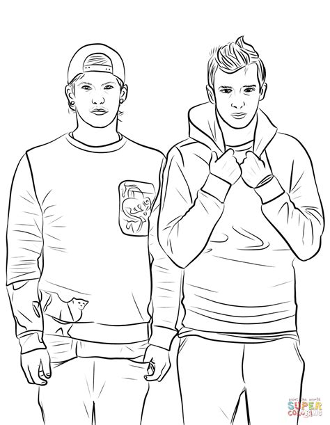 disegni da colorare riverdale twenty one pilots coloring page free printable coloring