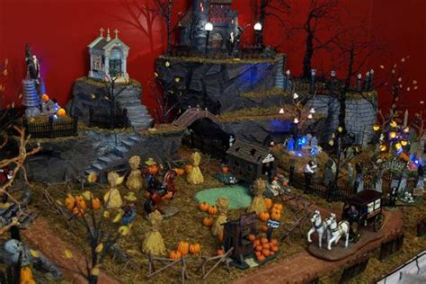 halloween village autumnhalloween village pinterest