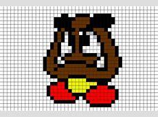 Goomba Mario Pixel Art – BRIK