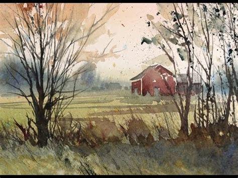 painting  fall landscape  watercolor  susan avis