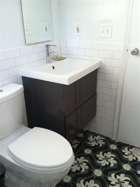 how to attach sink to vanity 30 pictures of bachsplash bathroom subway tile