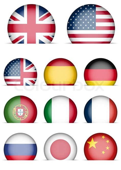 sammlung von flaggen icons vektorgrafik colourbox