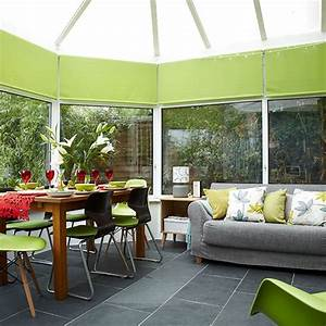 Conservatory with lime green accents Conservatory