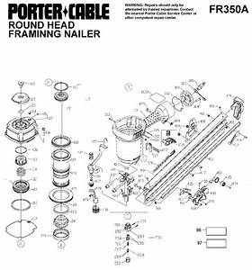 Porter Cable Fr350a Round Head Framing Nailer Parts
