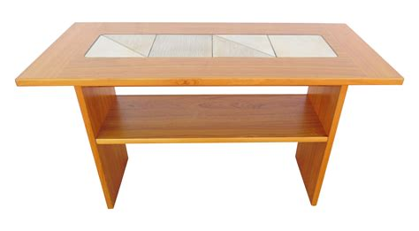 teak sofa table pair of 1960s open cube side tables in