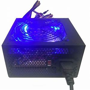New Blue Led 750w Atx12v Silent 120mm Fan Computer Gaming