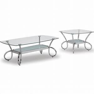 global furniture usa 559 glass and chrome coffee review With glass and chrome coffee table sets